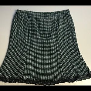 Axcess tweed lined fit and flare skirt size 12